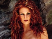 Angie Everhart Fair Hair, Almost Blonde