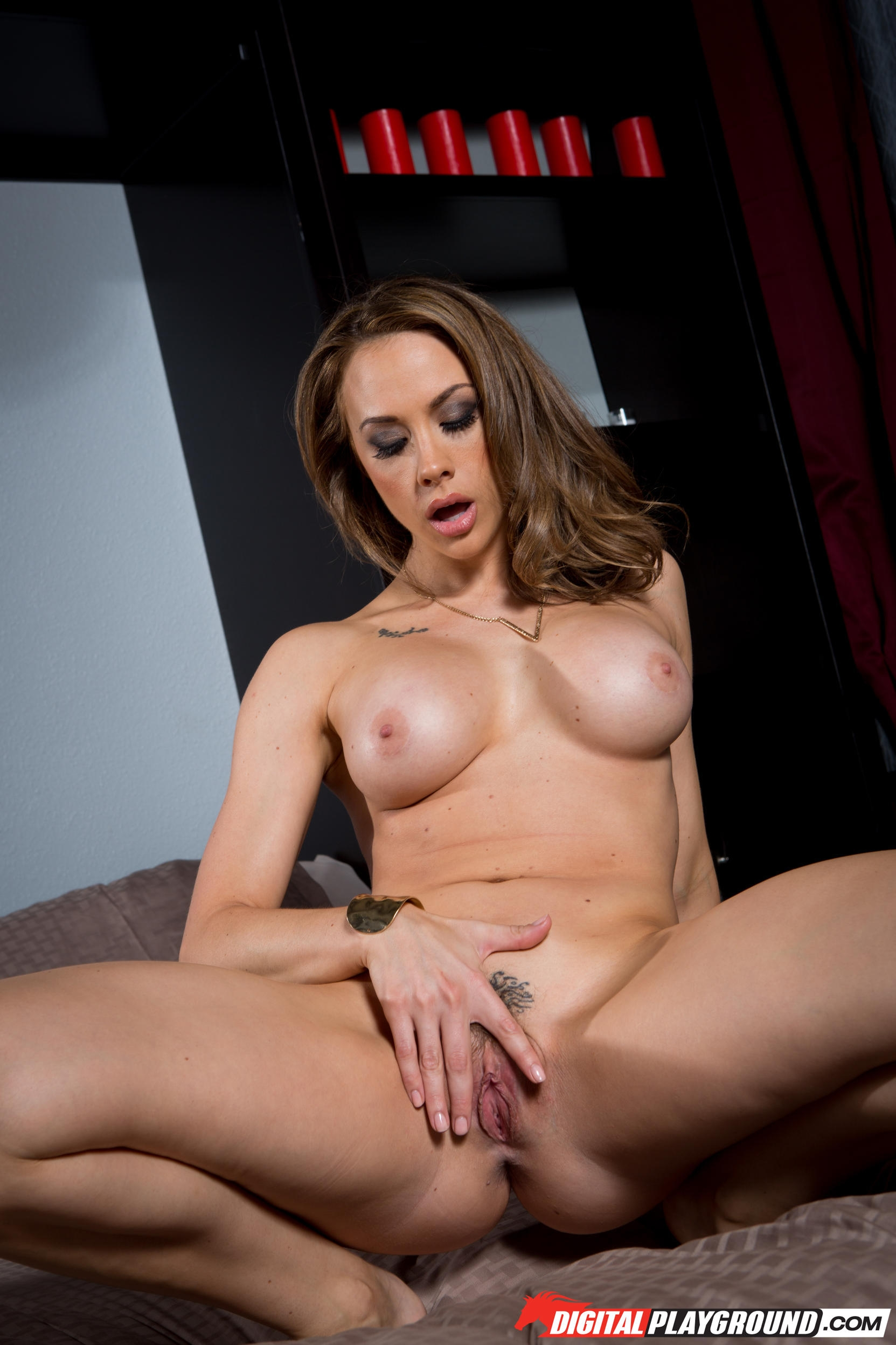 Naughty milf chanel preston puts on a huge strapon and plays a kinky solo