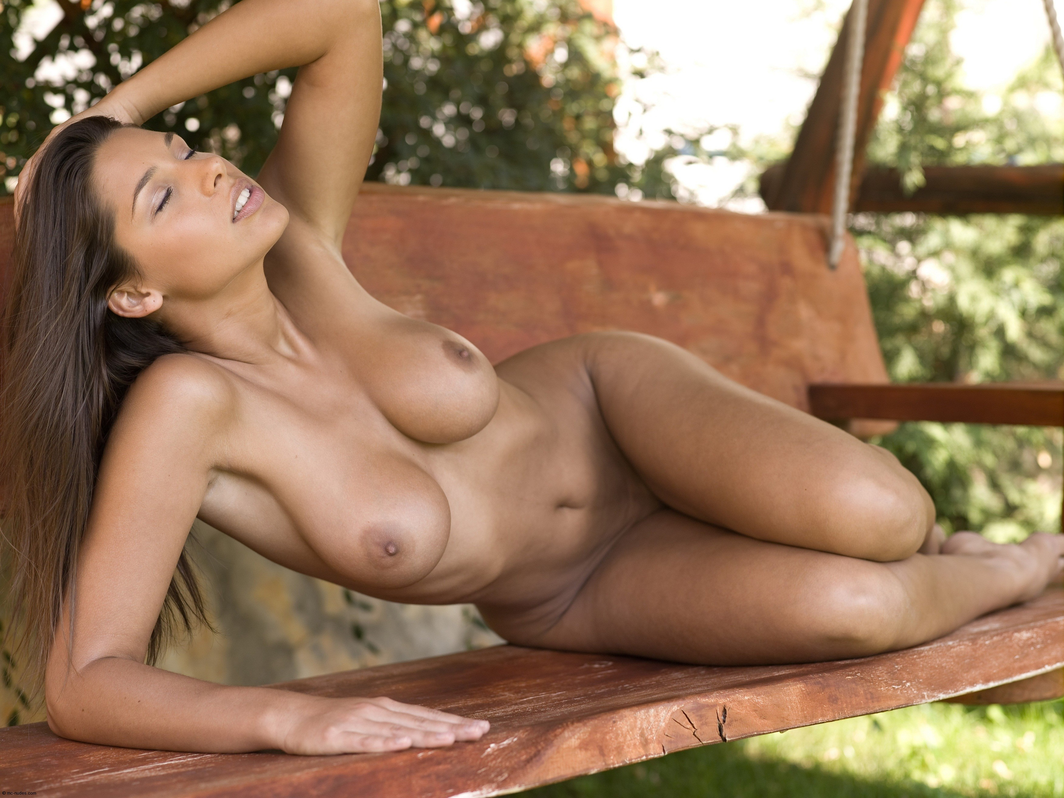 Beauty tanned sex, plump breasts fucking